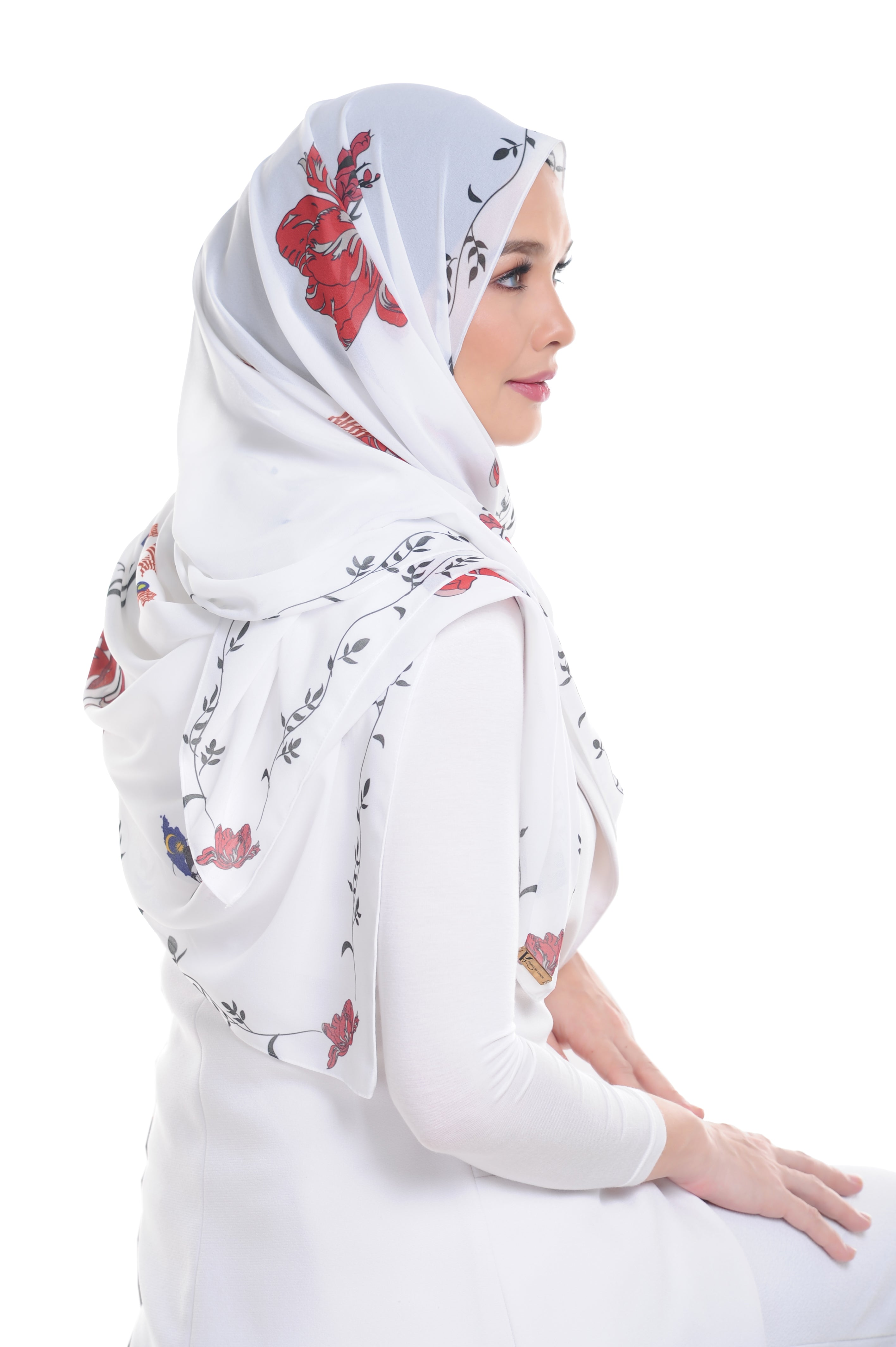 Malaysian Baba in White Shawl