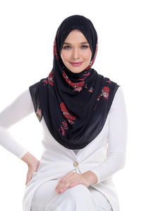Malaysian Baba in Black Shawl