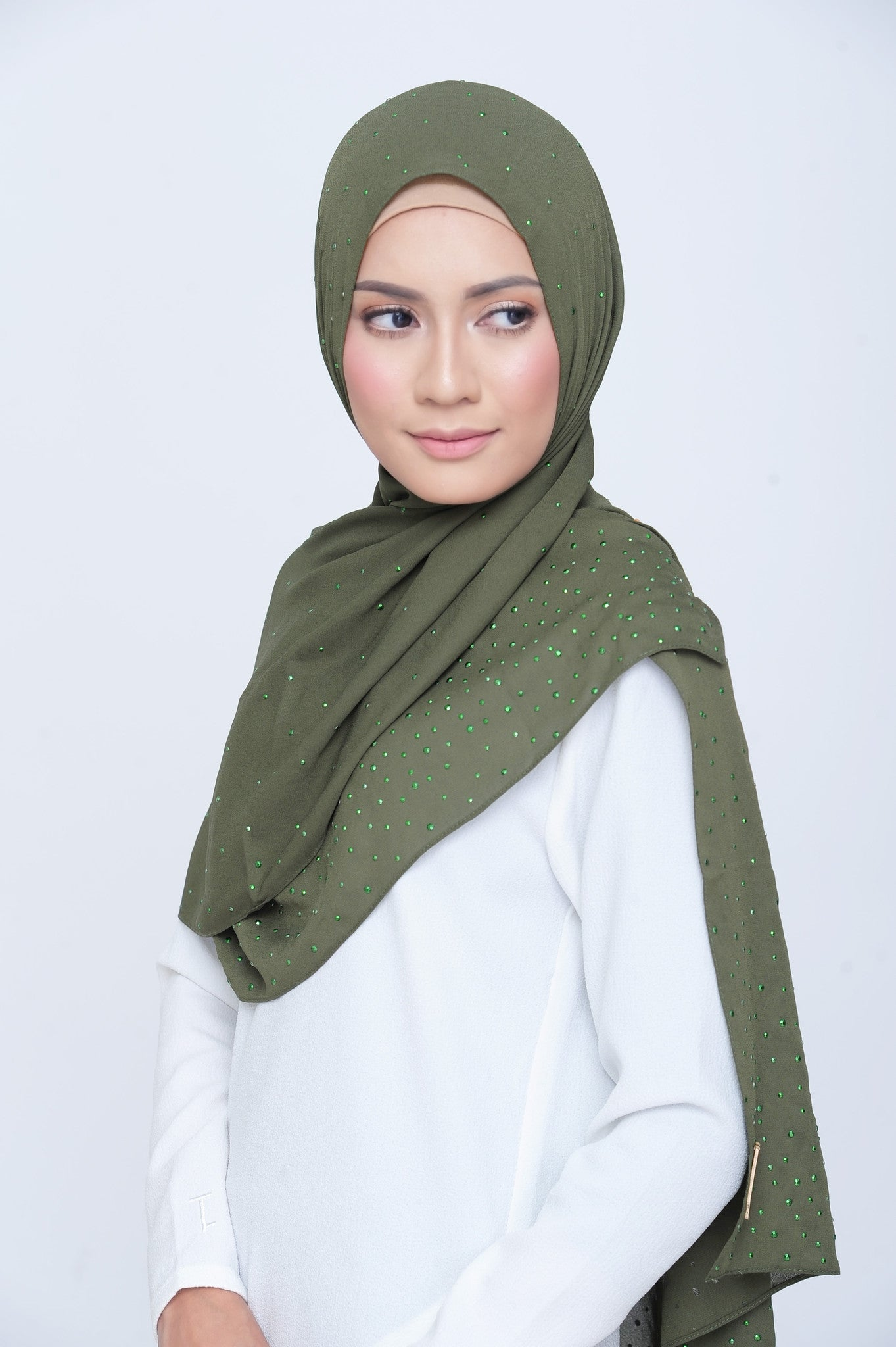 Be Dazzled Scarf in Seaweed
