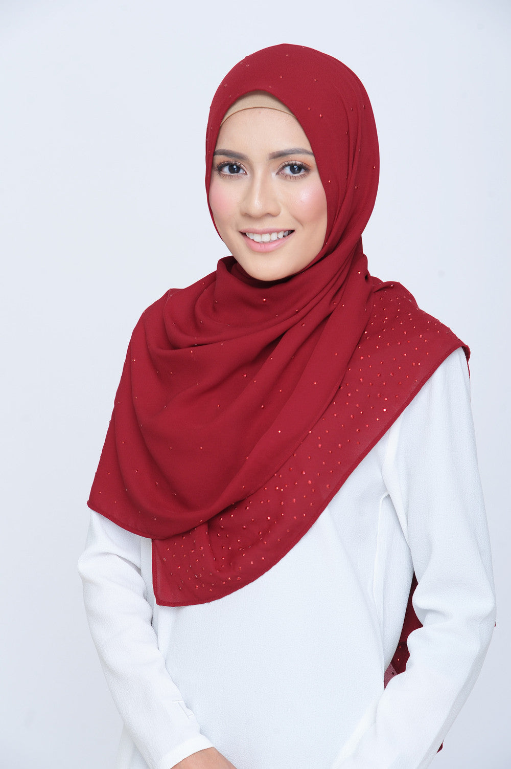 Be Dazzled Scarf in Burgundy Red