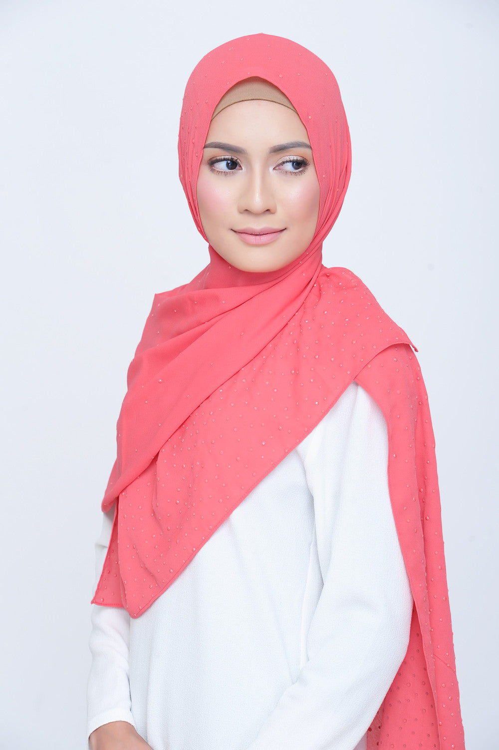 Be Dazzled Scarf in Desert Rose