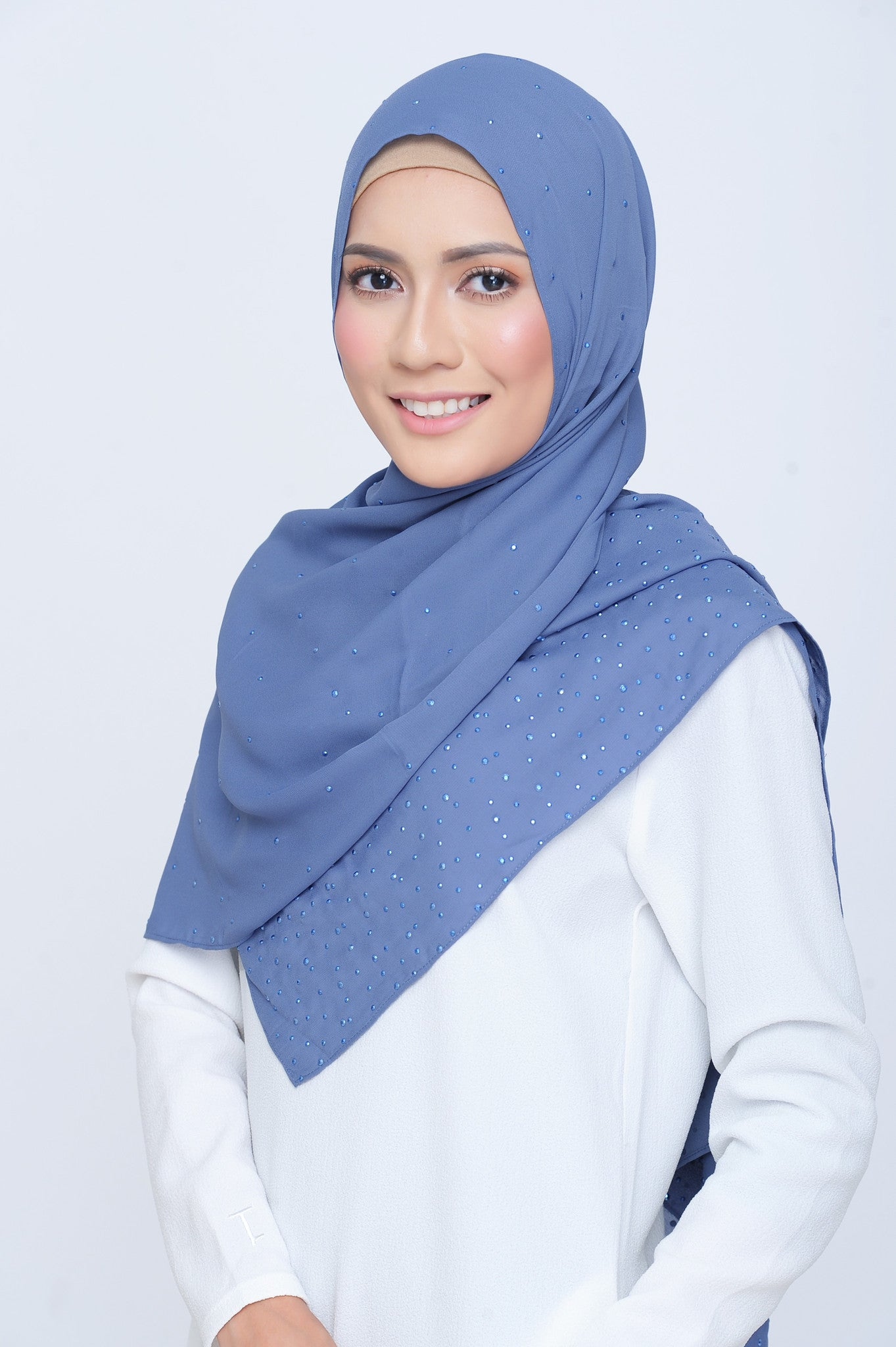Be Dazzled Scarf in Blue Rhythm
