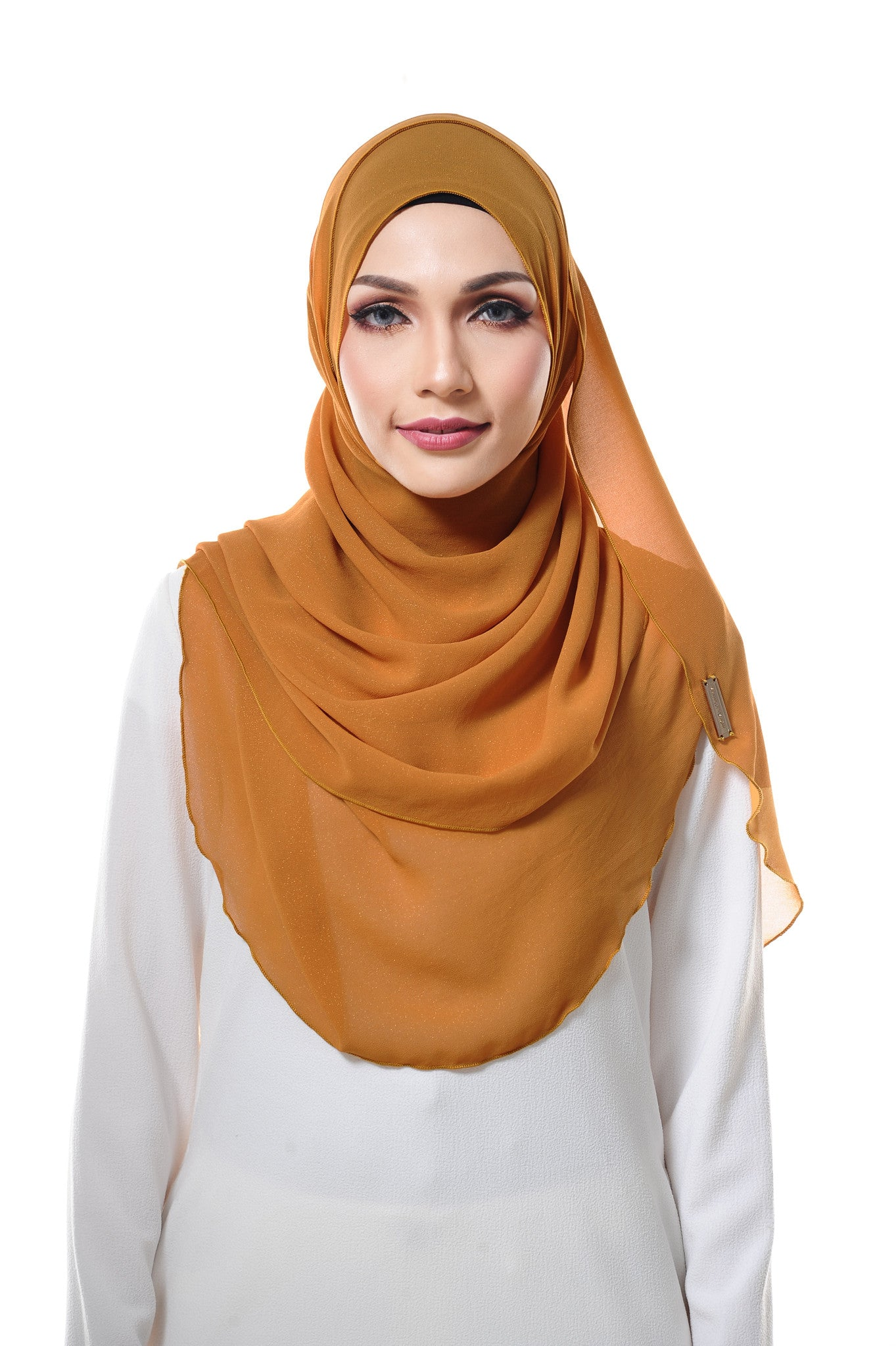 Essential Scarf Shimmering Series in Mustard