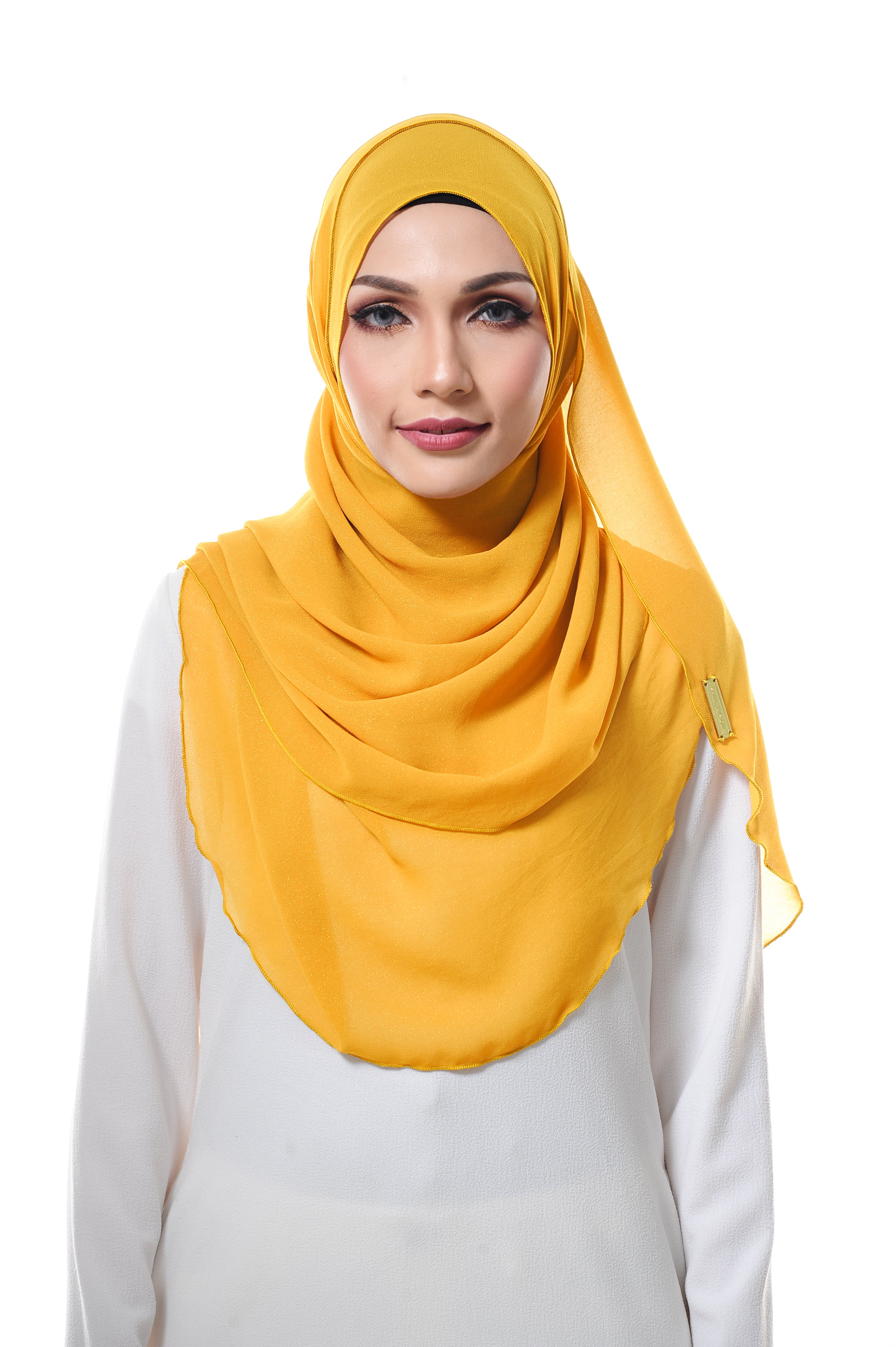 Essential Scarf Shimmering Series in Yellow