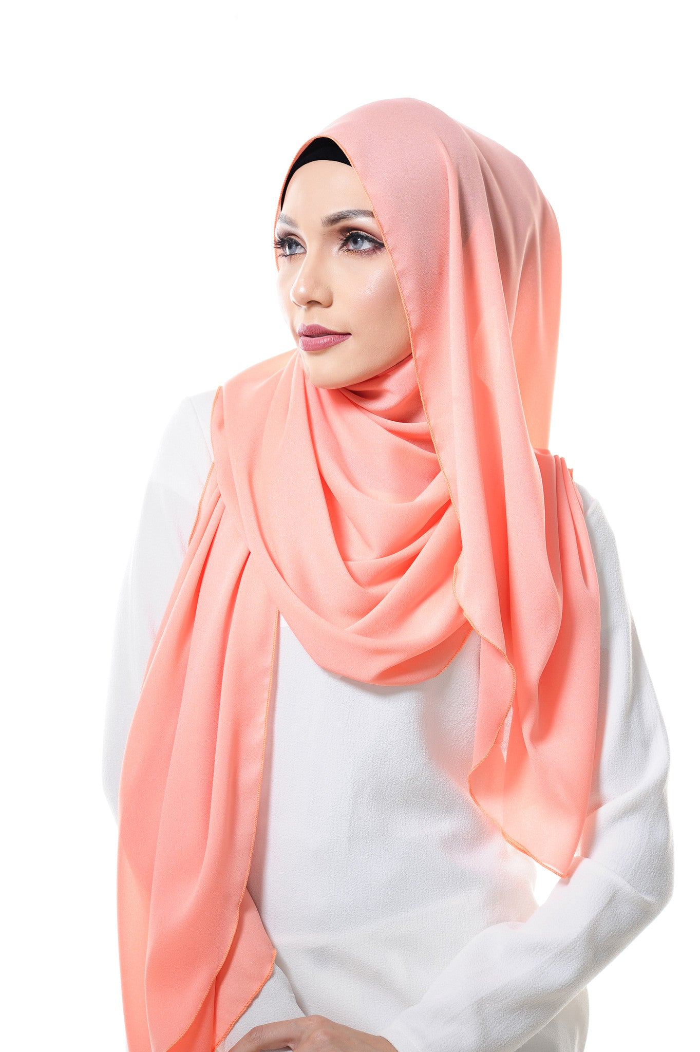 Essential Scarf Shimmering Series in Texas Peach