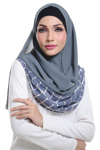 Marcella ( Metallic Chequer ) Instant Scarf in 024