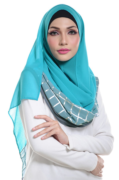 Marcella ( Metallic Chequer ) Instant Scarf in 010