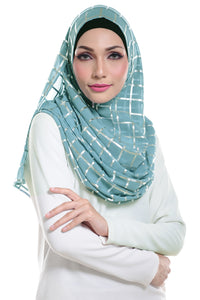 Marcella ( Metallic Chequer ) Instant Scarf in 006