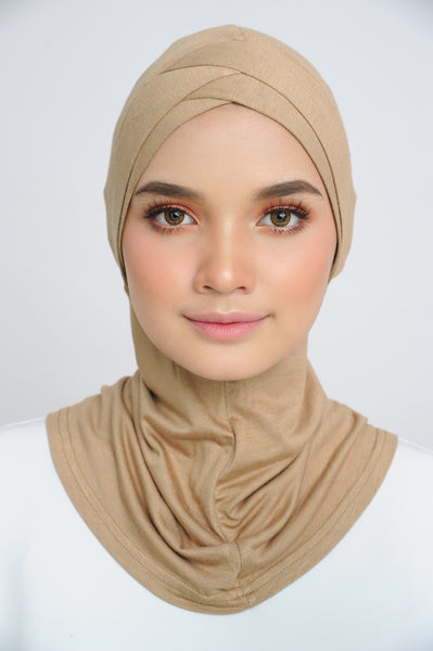 Inner Ninja in Gold ( Double criss cross-forehead )