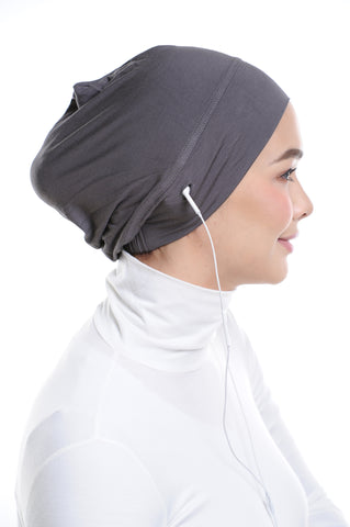 Snow Cap in Quicksilver with ear loop