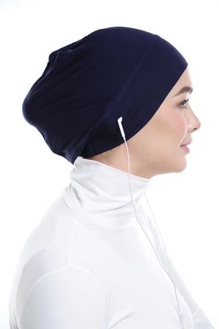 Snow Cap in Patriot Blue with ear loop