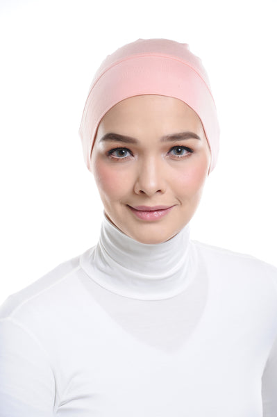 Snow Cap in Coral Peach without ear loop