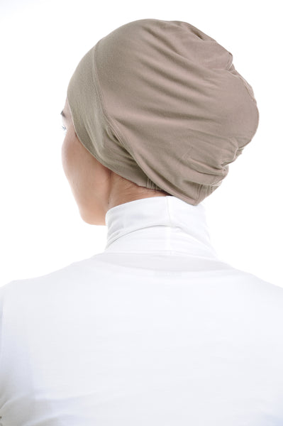 Snow Cap in Light Taupe without ear loop