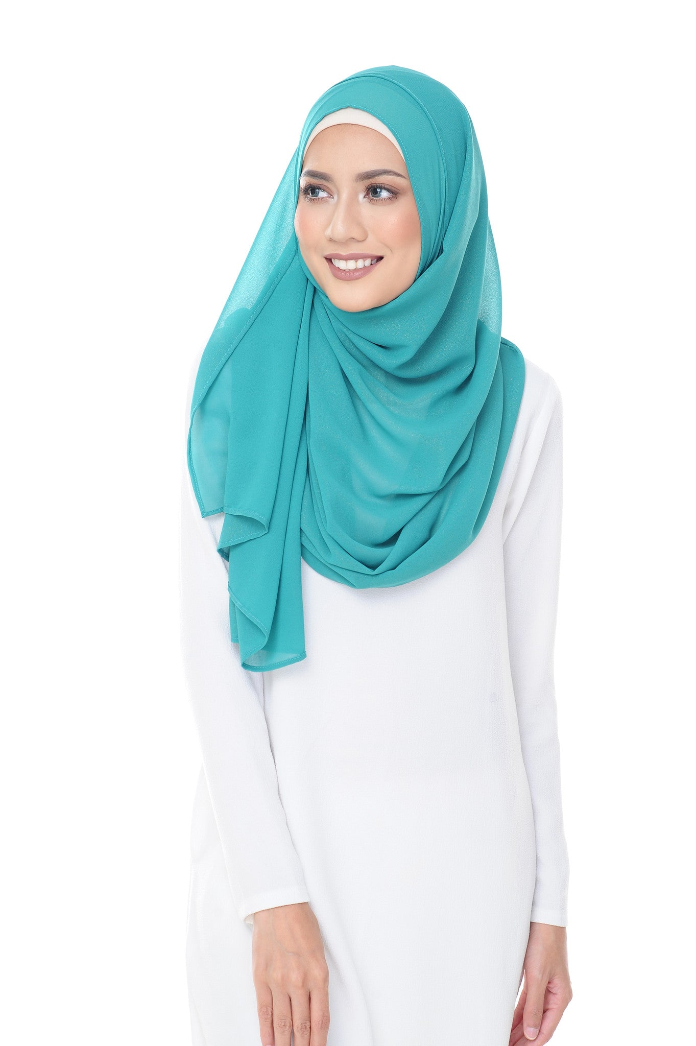 Marcella Instant Scarf in Tiffany Blue