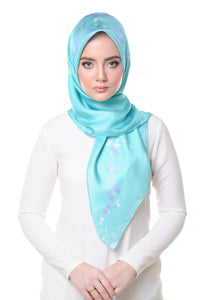 Lisse Square Scarf in Blue Radience