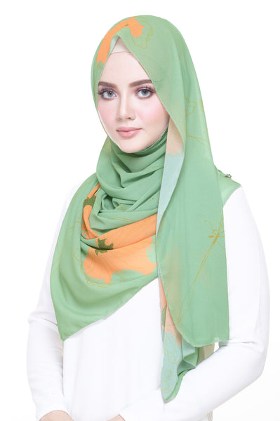 Bunga Kipas in Pastel Green