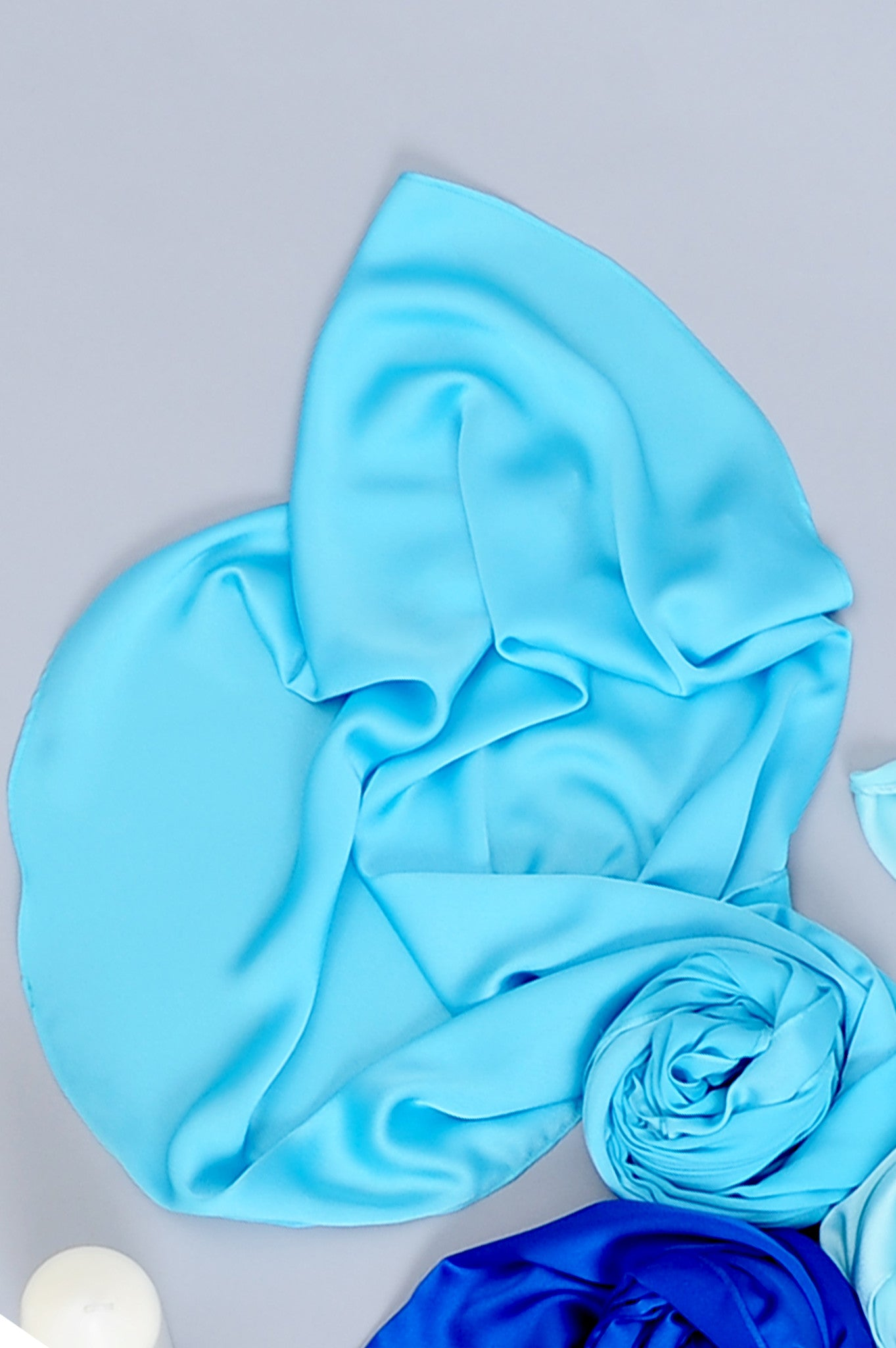 Essential Scarf Satin Series #2 in Aquarius