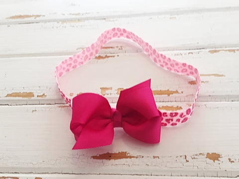 Azalea twisted ribbon bow headband