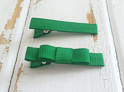Emerald green hair clips