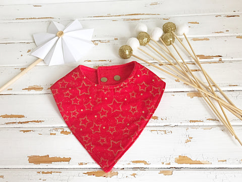 Gold stars dribble bib