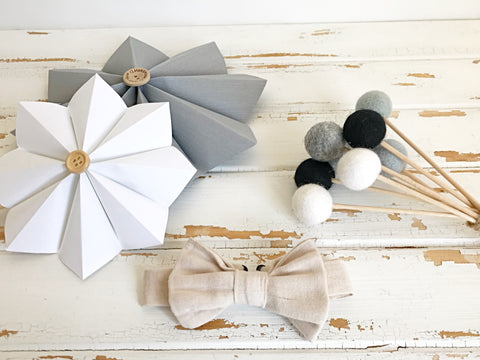 Linen adjustable bow tie