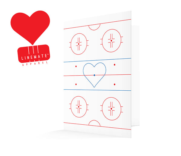 Centre Ice Valentine's Card