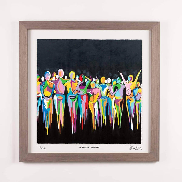 A Scottish Gathering - Framed Limited Edition Floating Prints