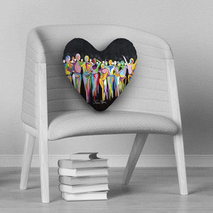 A Scottish Gathering - Heart Cushion