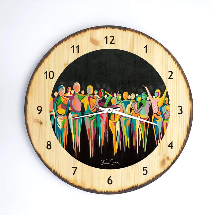 A Scottish Gathering - Wooden Clock