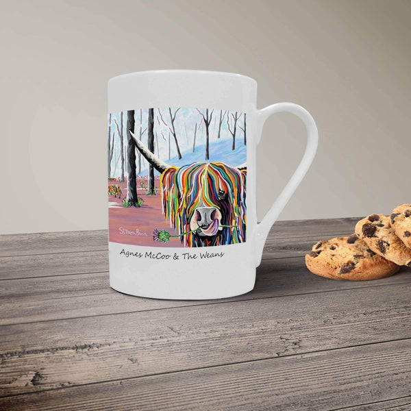 Agnes McCoo & The Weans - Bone China Mug