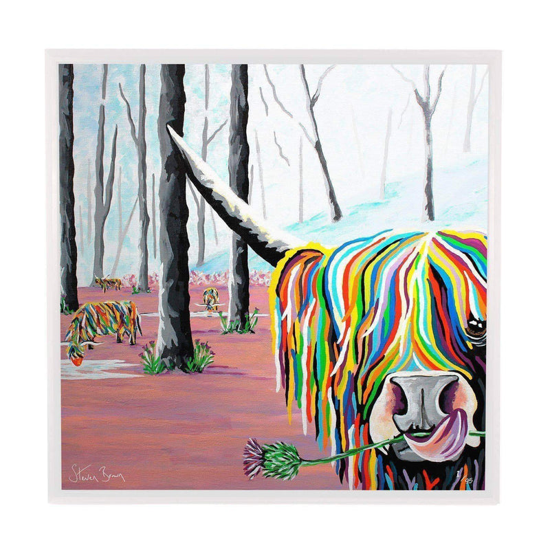 Agnes McCoo & The Weans - Framed Limited Edition Aluminium Wall Art