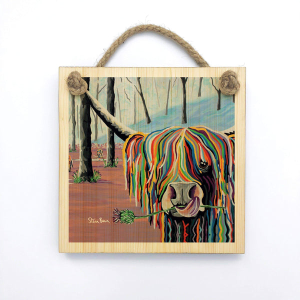 Agnes McCoo & The Weans - Wooden Wall Plaque