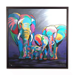Allan & Jackie McZoo - Framed Limited Edition Aluminium Wall Art