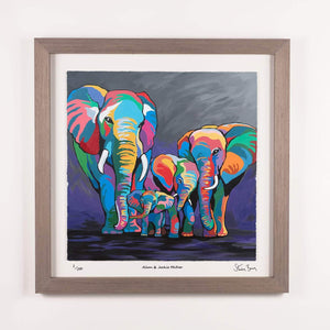 Allan & Jackie McZoo - Framed Limited Edition Floating Prints