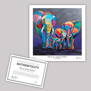 Allan & Jackie McZoo - Mini Limited Edition Print