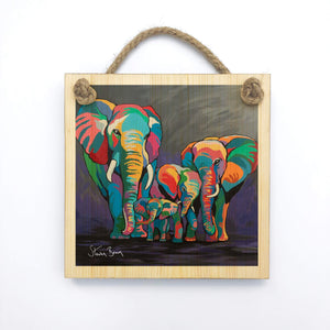 Allan & Jackie McZoo - Wooden Wall Plaque