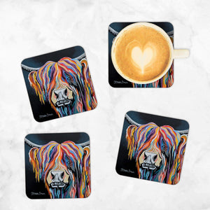 Ally McCoo - Set of 4 Coasters
