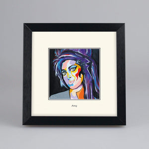Amy Winehouse - Digital Mounted Print