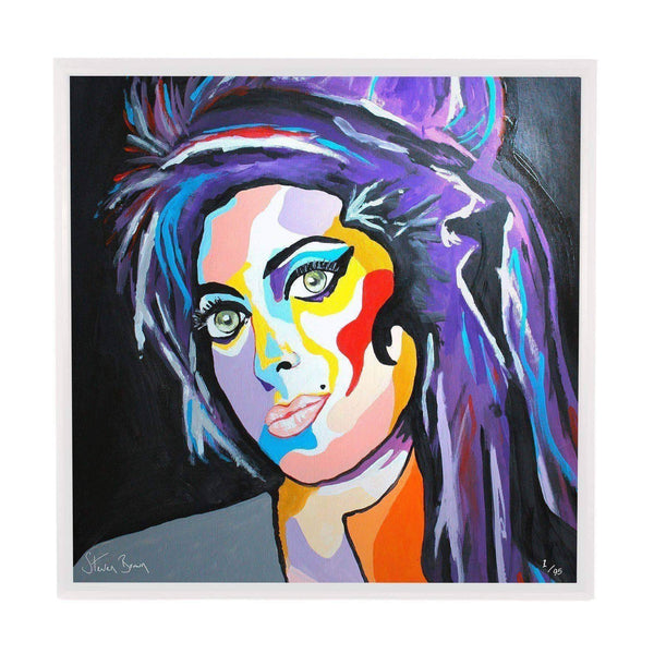 Amy Winehouse - Framed Limited Edition Aluminium Wall Art