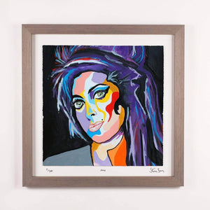 Amy Winehouse - Framed Limited Edition Floating Prints