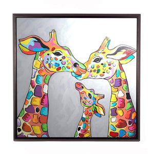 Andy & Amy McZoo and the Wean - Framed Limited Edition Aluminium Wall Art