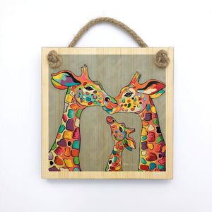 Andy & Amy McZoo and the Wean - Wooden Wall Plaque