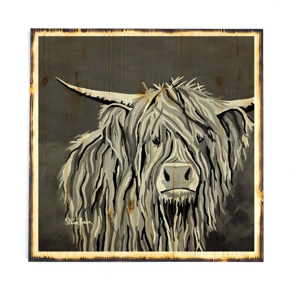 Angus McCoo the Noo - Timber Print