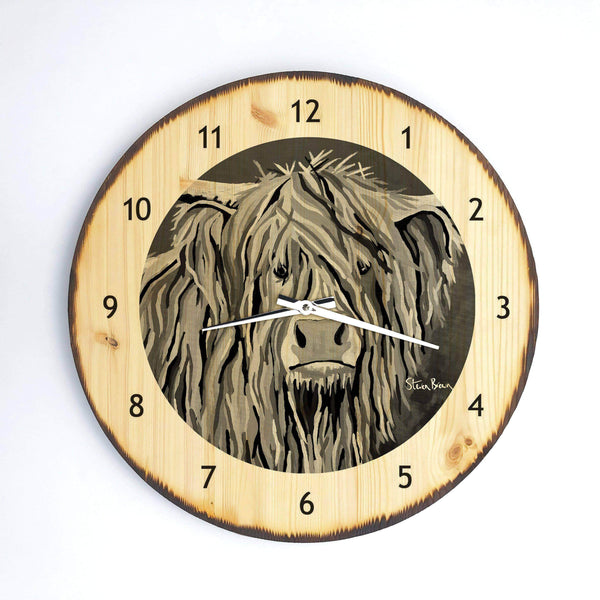 Angus McCoo The Noo - Wooden Clock