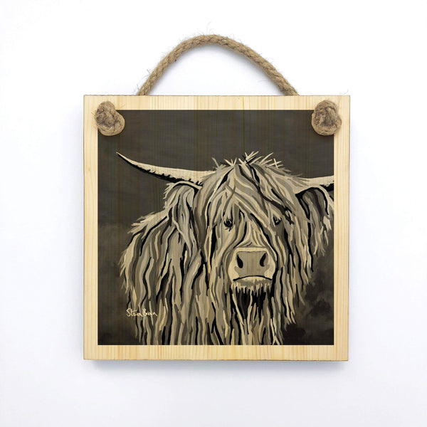 Angus McCoo The Noo - Wooden Wall Plaque