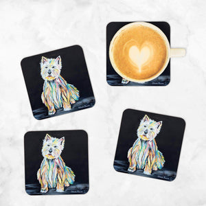 Archie McDug Coaster - Set of 4 Coasters