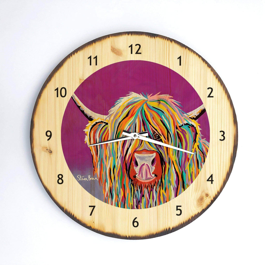 Betty McCoo - Wooden Clock