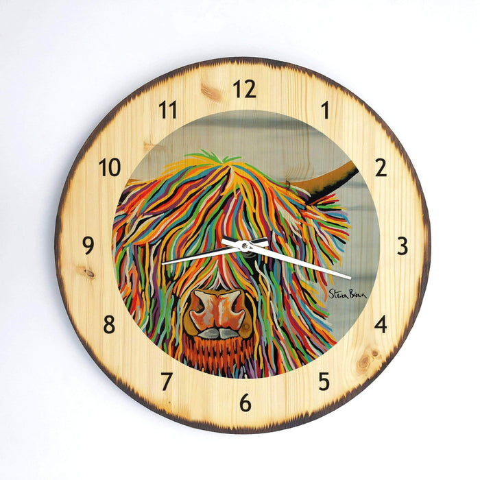 Big Malky McCoo - Wooden Clock