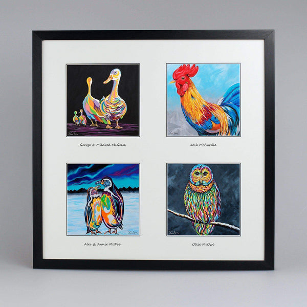Birds Of A Feather Collection - Quad Framed