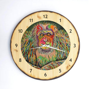 Boris McZoo - Wooden Clock